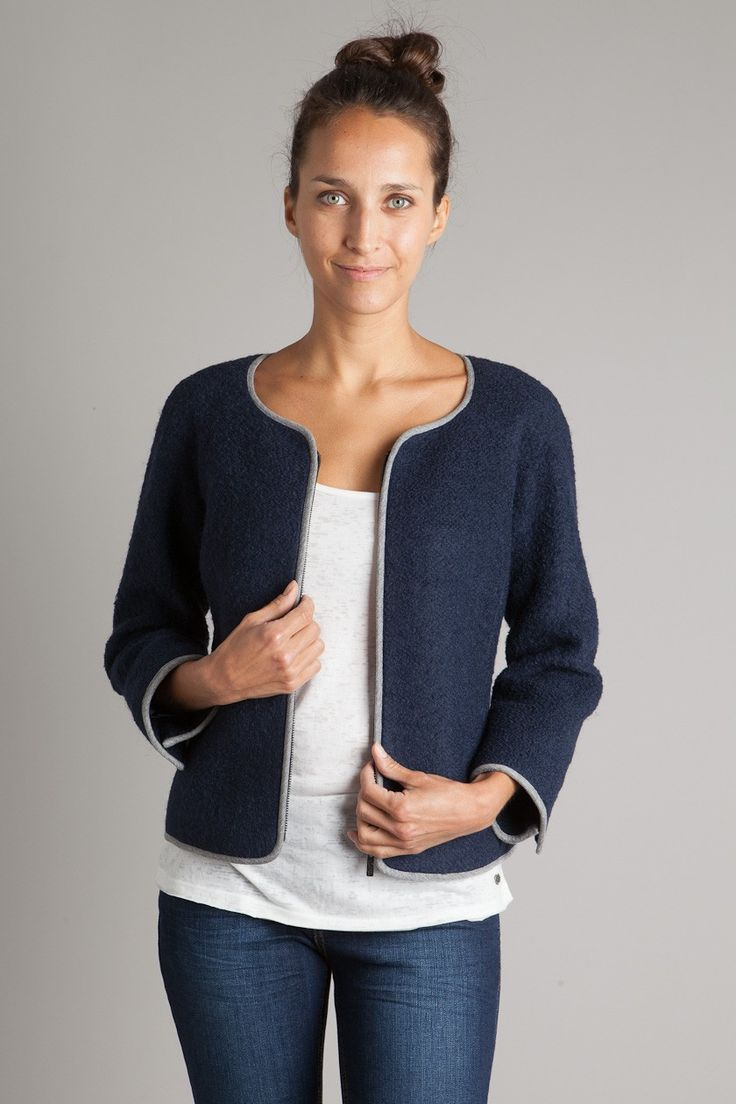 Veste femme droite minimaliste chic  Mode  Pinterest