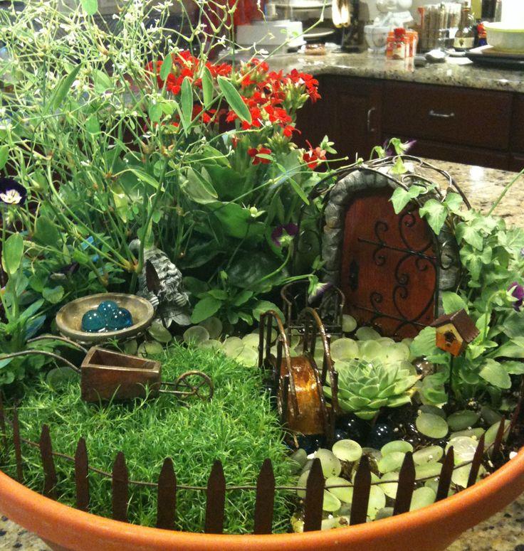 Fairy Garden In A Planter Garden Pinterest