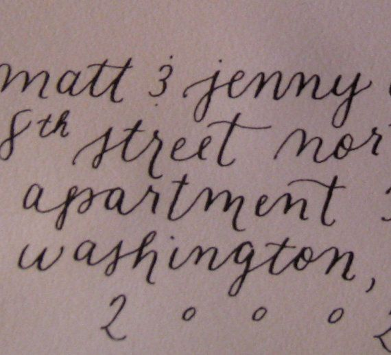 Elegant Calligraphy For Wedding Envelopes Rosie Font