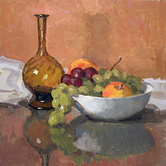 Amber Glass and Fruit - Oil | painting ideas | Pinterest