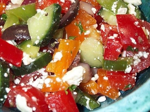 peppers green red yellow and orange chopped red onion chopped english ...
