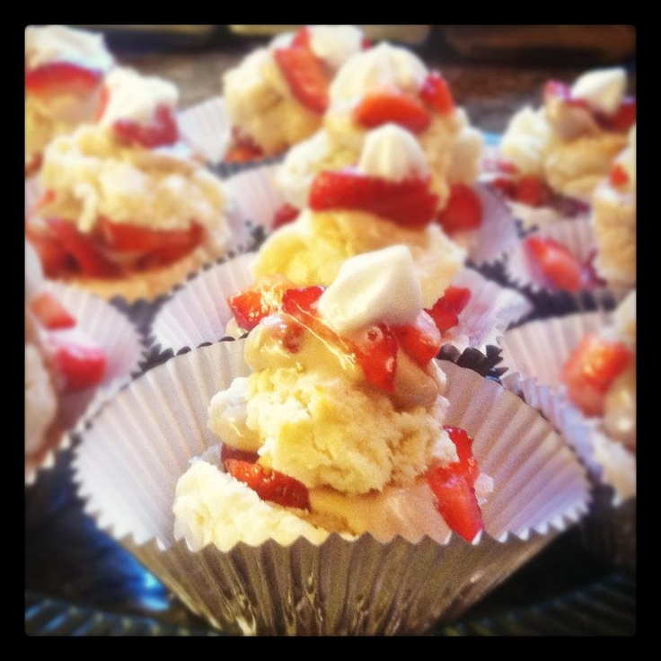 ... Shortcake Cupcakes with balsamic vinegar frosting and whipped cream on