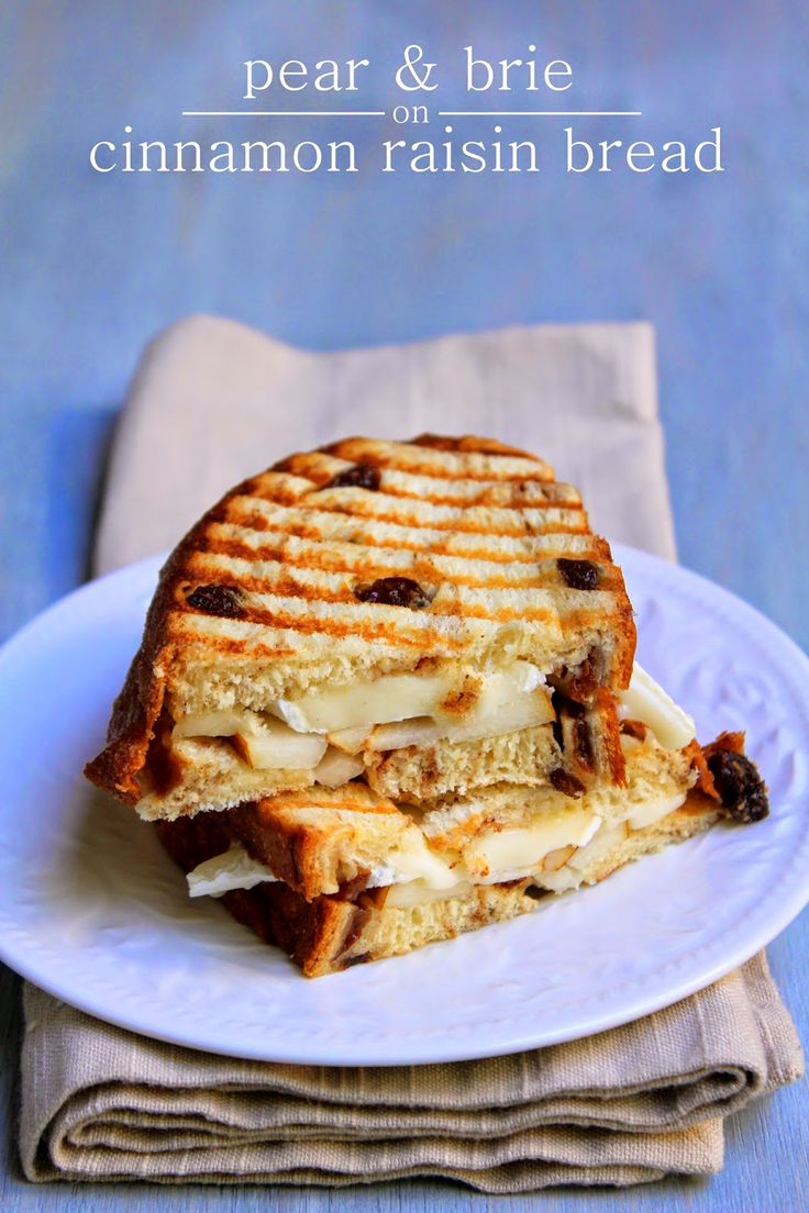 Pear & Brie Grilled Cheese Sandwich | Grilled cheese and other good s ...