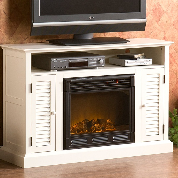 electric fireplace media console cottage decorating ideas pintere