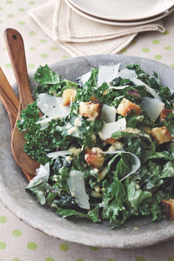 Kale Caesar Salad. | Hmmmmmm | Pinterest
