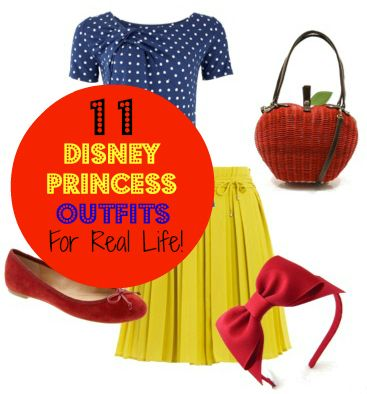 Dress Like a Disney Princess: 11 Princess Inspired Outfits -- I'm not a Disney girl, but these outfits were pretty clever