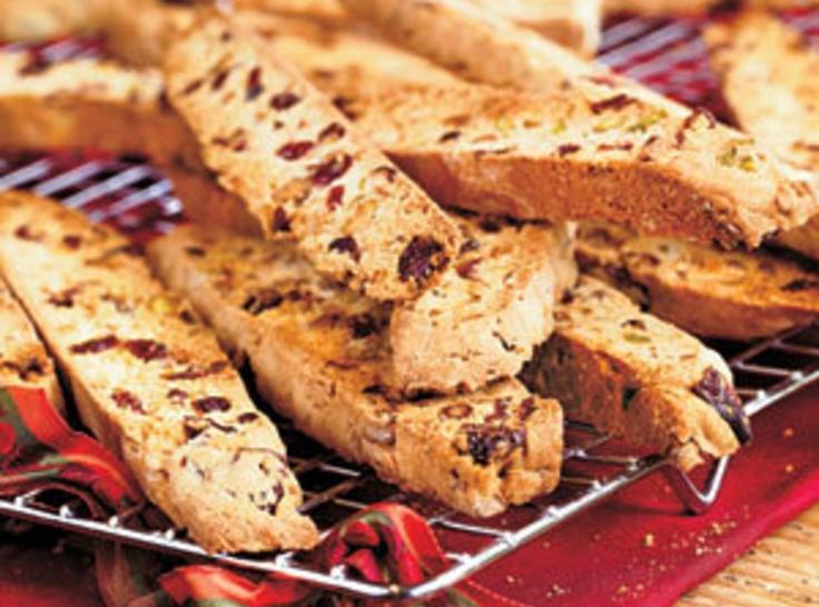 Cranberry Pistachio Biscotti | COOKIES, BROWNIES & BARS | Pinterest