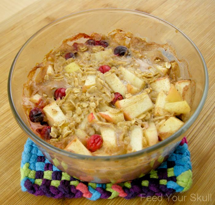 Apple Pie Cranberry Oatmeal | Recipe