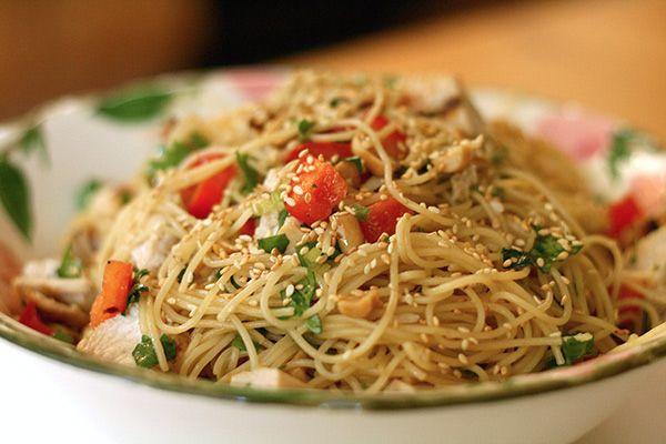 Sesame and Cilantro Vermicelli Salad | Salads & Dressings | Pinterest