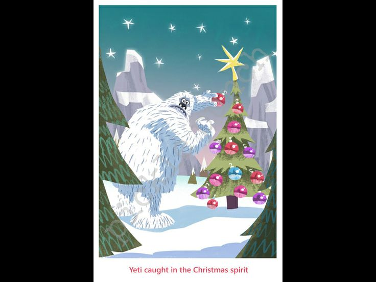 Holiday greeting cards Pickle Punch Yeti Caught in the Christmas ...