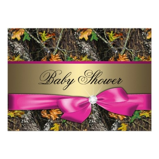 hot pink camo baby shower invitation baby shower cakes decorations