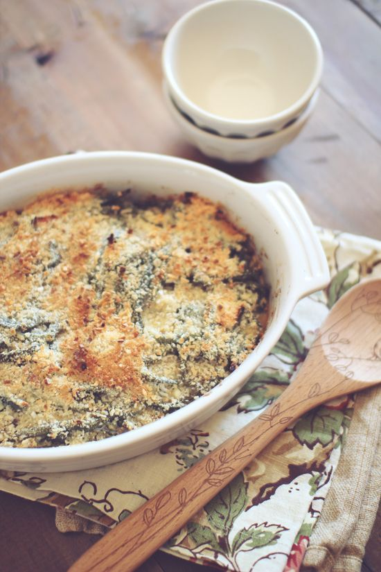 Skinny Green Bean Casserole. | If only I cooked.... | Pinterest