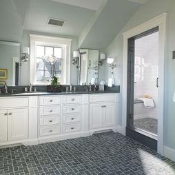 Shed dormer bathroom design stonewall pinterest for Bathroom dormer design
