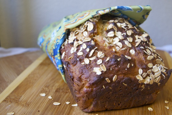 Honey Oat Quick Bread: Perfect toasted with a goat cheese spread