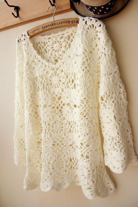 Blouse Lace Crochet 101
