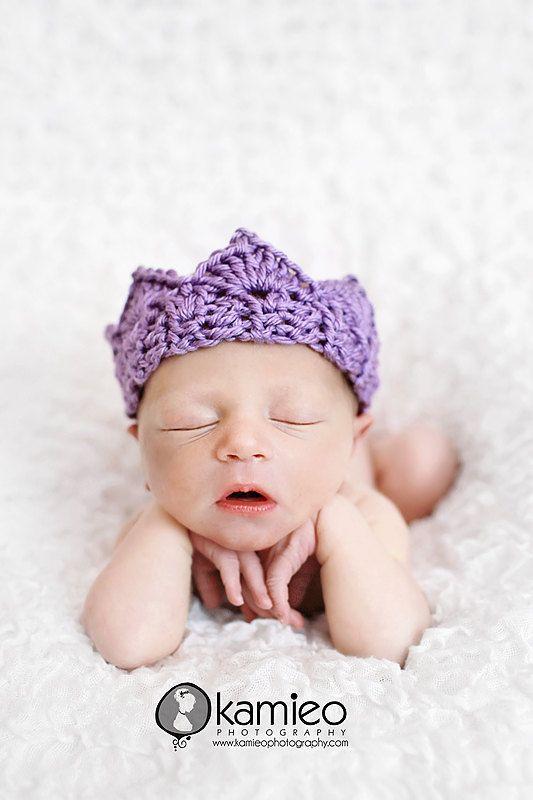 Crochet Newborn Crown : Crochet Crown
