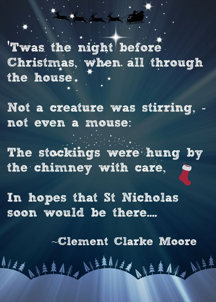Christmas Advent Calendar Quote - 'Twas the Night Before Christmas...