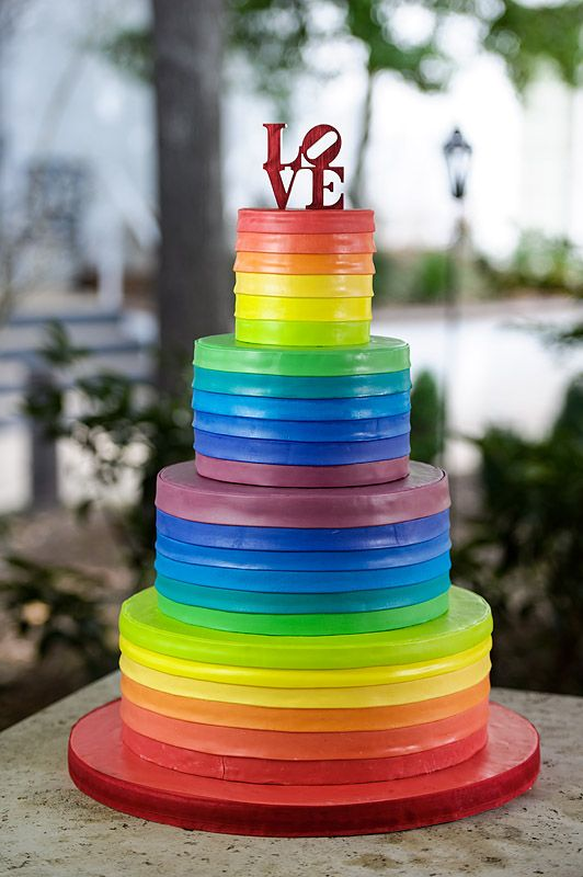 Rainbow Wedding Cake Cake Ideas and Designs