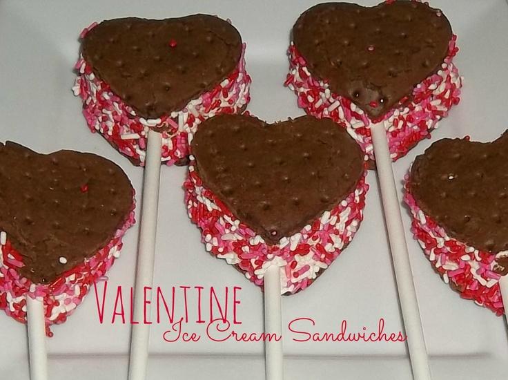 Valentine Ice Cream Sandwiches | Valentine's Day | Pinterest