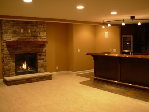 basement fireplace for the home pinterest
