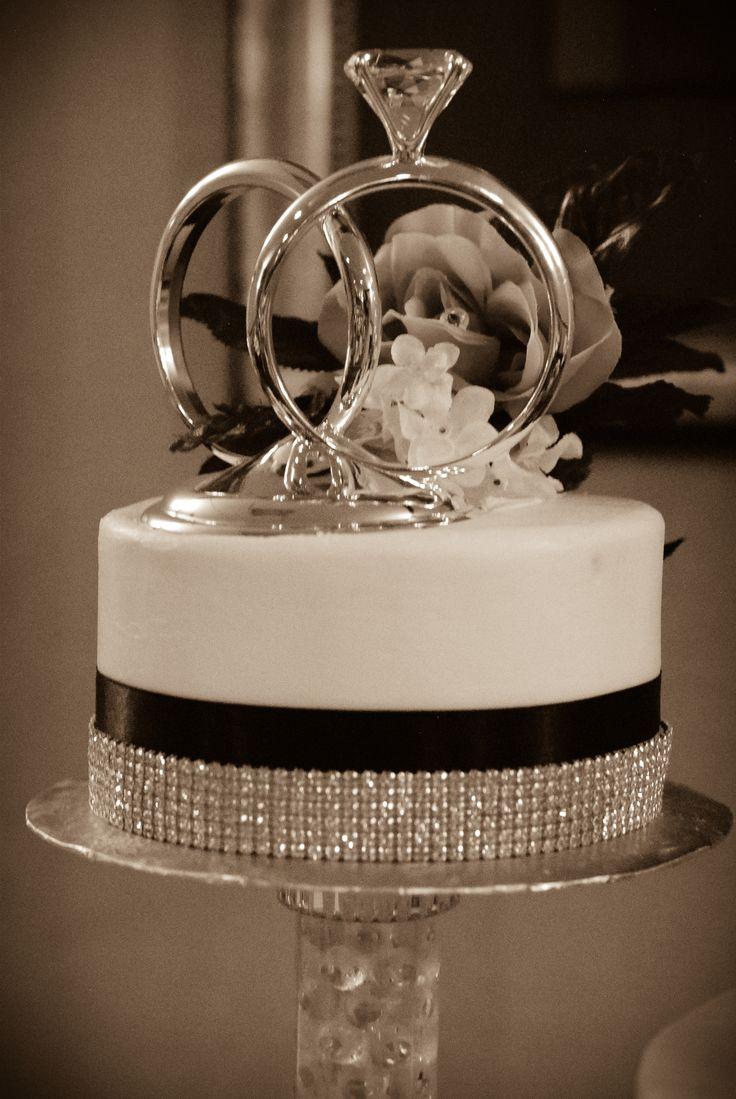 diamond cake topper. silver diamond cupcake toppers bridal shower