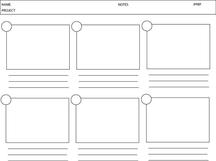 Storyboard Template 6 Boxes Image Collections Template Design Ideas