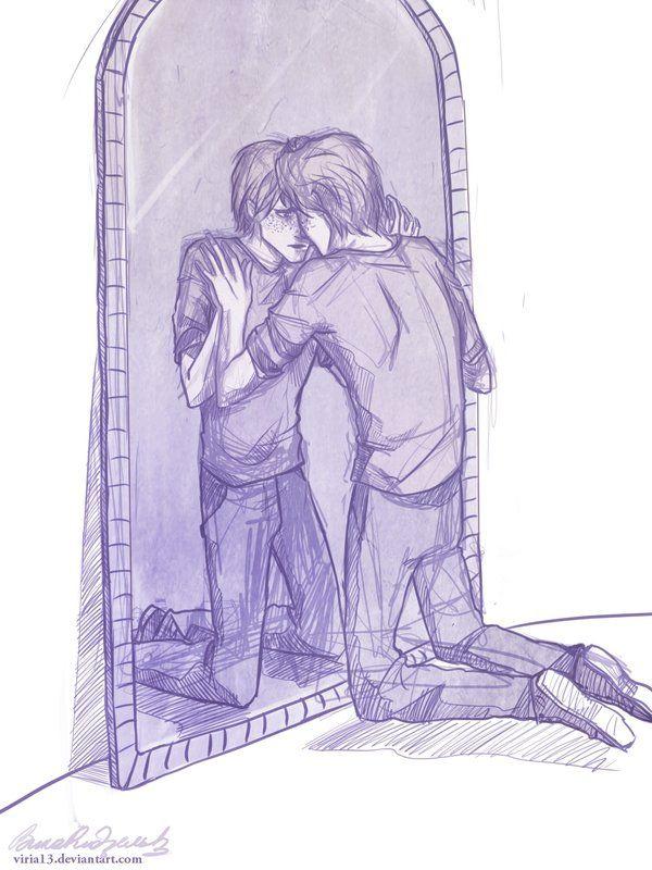 George Weasley. Every mirror is the Mirror of Erised.