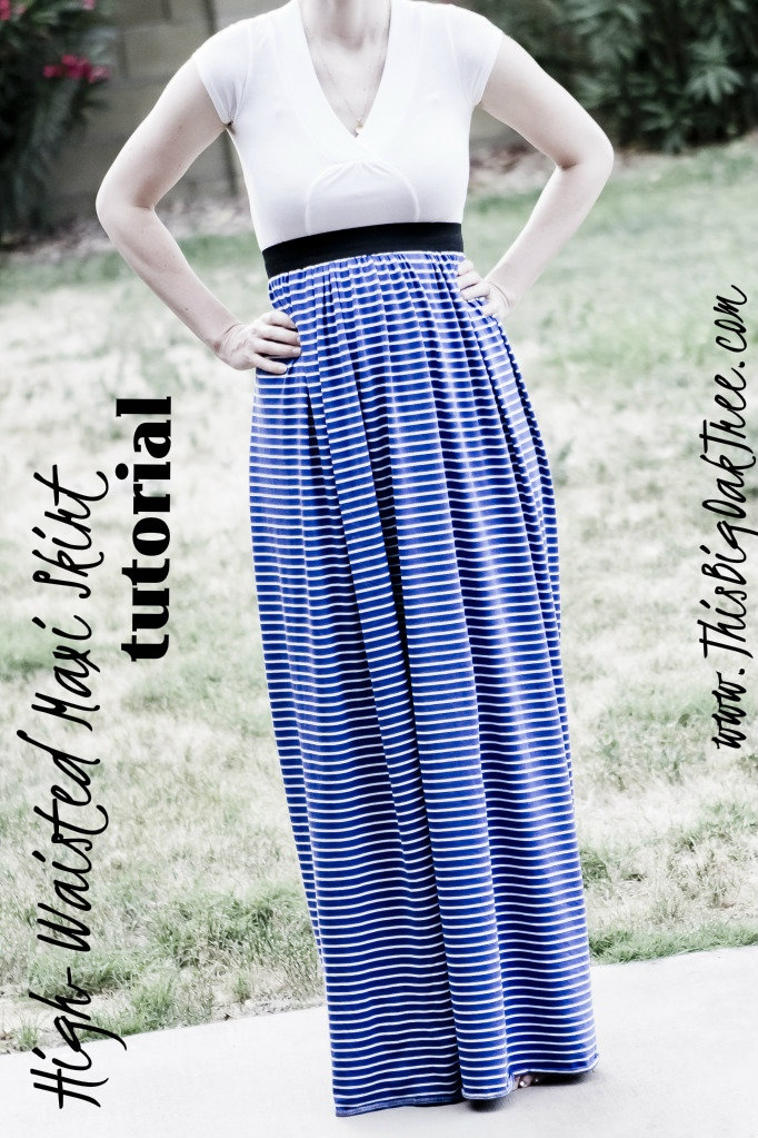high waisted maxi skirt tutorial sewing for
