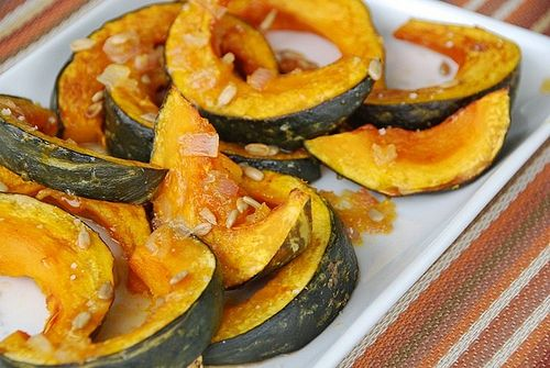 Roasted squash with orange honey glazed, spiked with ginger and ...
