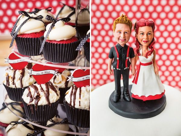 black white rockabilly wedding ideas