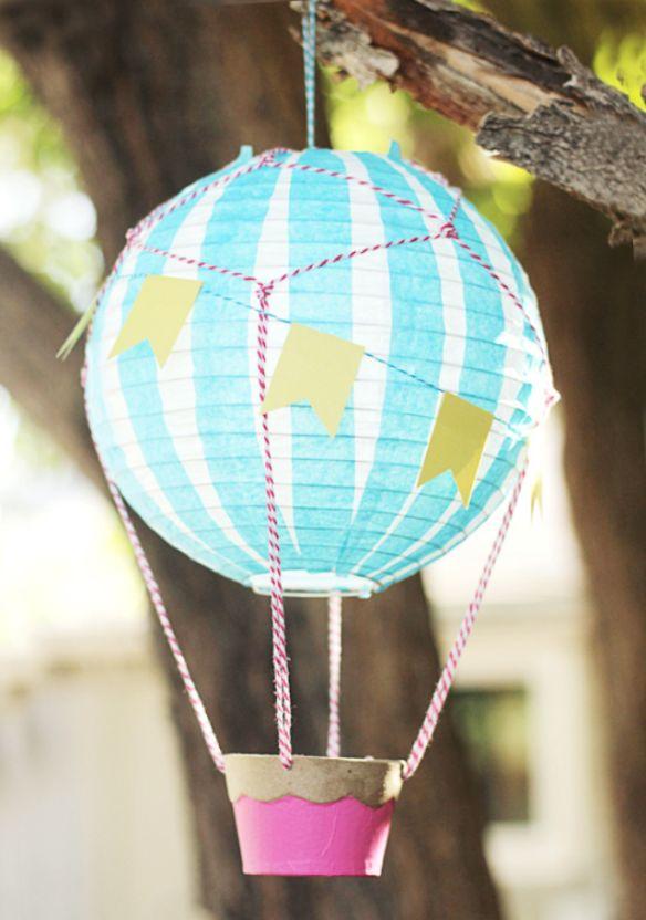 Diy hot air balloon decoration hot air balloon kite for Air balloon decoration