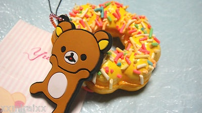 Rilakkuma Tag Squishy : kawaii Rilakkuma tag donut squishy? Squishies Pinterest