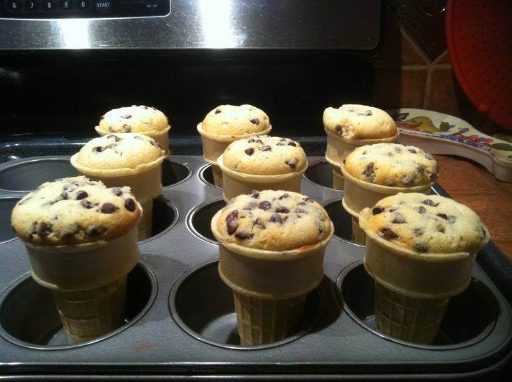 Cupcakes in a cone | Cakes | Pinterest