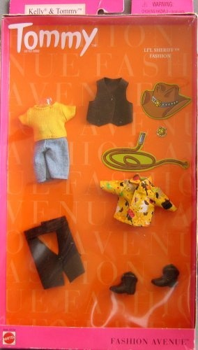 Barbie tommy li l sheriff fashion avenue clothes kelly tommy