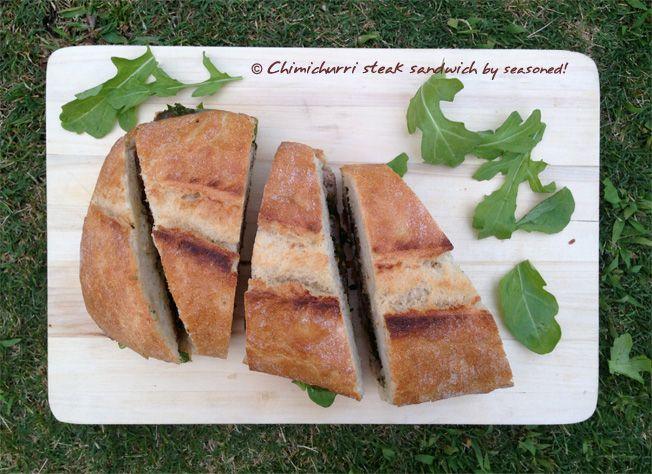 Chimichurri steak sandwich and pineapple skewer by seasoned! www ...