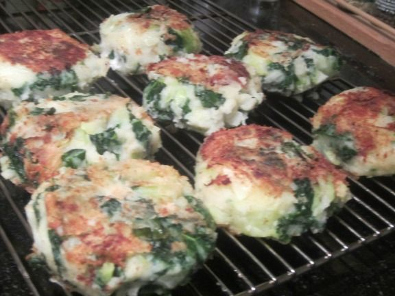 Colcannon cakes on rack | Party Food | Pinterest