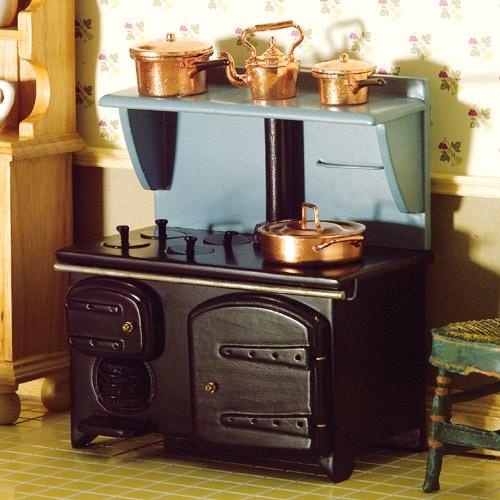 victorian stove with shelf kitchen appliances dollhouse furniture