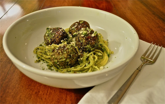 "Lentil ""Meatballs"" In Lemon Pesto Recipe — Dishmaps"
