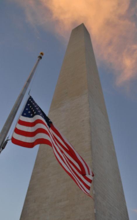 flag half mast washington