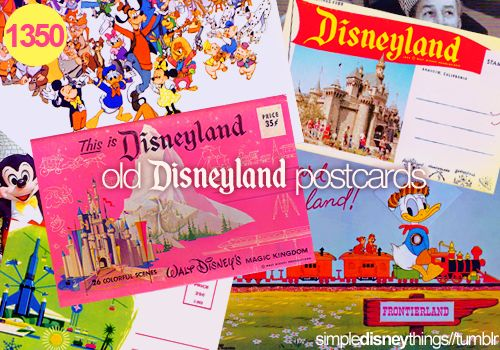 Old Disney postcards
