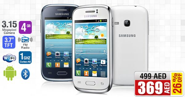 AWESOME DEAL: GET 26% OFF on Samsung Galaxy Young S6310 @ AED 369