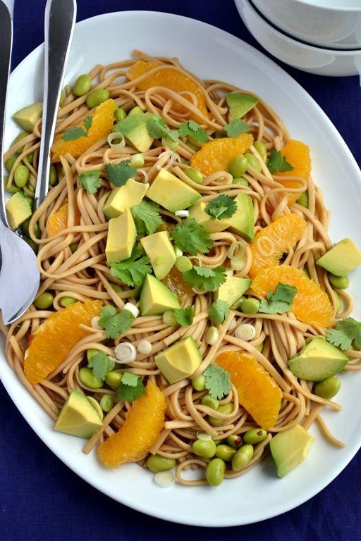 Orange, Edamame & Avocado Noodle Salad | Recipe