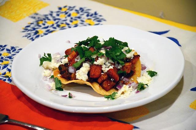 Butternut Squash and Chorizo Tostadas | Food to make | Pinterest