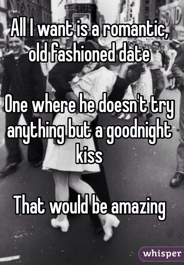 Dating an old fashioned woman