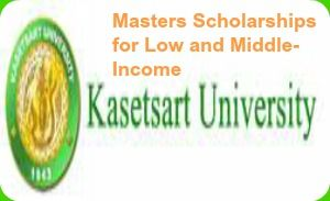 Masters scholarships for low and middle income country students and