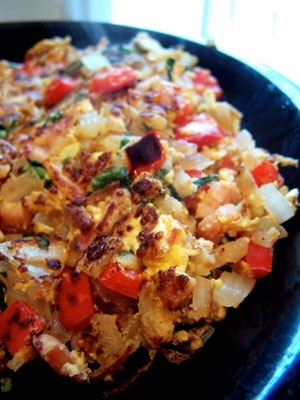 Healthy Breakfast Hash Non-stick cooking spray 1 cup frozen shredded ...