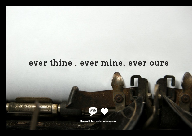 ever thine ever mine ever ours mike debbie pinterest