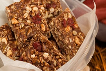 Chewy Trail Mix Peanut Butter Bars | food! | Pinterest
