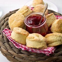 Raspberry & Orange Jam with buttery, light scones
