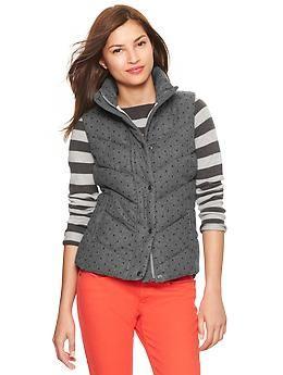 Dot flannel puffer vest | Gap